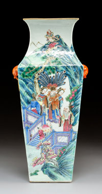 A Chinese Enameled Porcelain Vase 15-5/8 x 7 x 6 inches (39.7 x 17.8 x 15.2 cm)  PROPERTY FROM A BEVERLY HIL