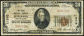 National Bank Notes:Pennsylvania, Jefferson, PA - $20 1929 Ty. 1 The First NB Ch. # 11370 Very Good-Fine.. ...