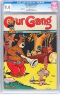 Golden Age (1938-1955):Funny Animal, Our Gang Comics #8 File Copy (Dell, 1943) CGC NM 9.4 Cream tooff-white pages....