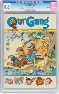 Our Gang Comics #11 File Copy (Dell, 1944) CGC NM+ 9.6 Off-white pages