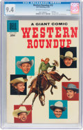 Silver Age (1956-1969):Western, Dell Giant Comics Western Roundup #18 File Copy (Dell, 1957) CGC NM9.4 Off-white to white pages....