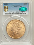 Liberty Double Eagles, 1900 $20 MS64+ PCGS Gold Shield. CAC. PCGS Population: (9726/379). NGC Census: (6841/348). MS64. Mintage 1,874,584....