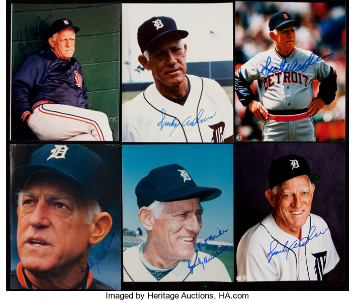 c8cd6295412f61 Sparky Anderson Signed Image Lot of 10.... (Total: 10 items) | Lot ...