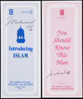 Autographs:Letters, Muhammad Ali Institute of Islamic Information Signed Pamphlet Lotof 2.... (Total: 2 items)