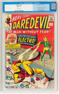 Silver Age (1956-1969):Superhero, Daredevil #2 (Marvel, 1964) CGC FN- 5.5 Off-white pages....