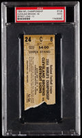 Football Collectibles:Tickets, 1954 NFL Championship Game Browns vs. Lions Ticket Stub, PSA Good 2. ...