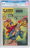 Golden Age (1938-1955):Classics Illustrated, Classics Illustrated #53 A Christmas Carol - First Edition (Gilberton, 1948) CGC VF/NM 9.0 Off-white pages....