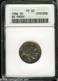Proof Buffalo Nickels: , 1936 5C Type Two--Brilliant Finish PR62 ANACS....