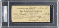 Baseball Collectibles:Others, 1929 Lou Gehrig Signed Check, PSA/DNA Mint 9 from The Lou GehrigCollection....