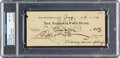 Baseball Collectibles:Others, 1929 Lou Gehrig Signed Check, PSA/DNA NM-MT 8 from The Lou Gehrig Collection....