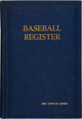 Baseball Collectibles:Balls, 1947 Baseball Register Belonging to Christina Gehrig from The Lou Gehrig Collection....