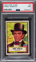 Non-Sport Cards:General, 1952 Topps Look 'N See Daniel Webster #22 PSA Mint 9 - Pop One,None Higher! ...