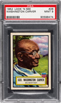 Non-Sport Cards:General, 1952 Topps Look 'N See Washington Carver #26 PSA Mint 9 - Pop One,None Higher! ...
