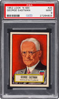 Non-Sport Cards:General, 1952 Topps Look 'N See George Eastman #25 PSA Mint 9 - Pop Four,None Higher. ...