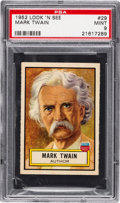 Non-Sport Cards:General, 1952 Topps Look 'N See Mark Twain #29 PSA Mint 9 - Pop Four, None Higher. ...