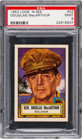 Non-Sport Cards:General, 1952 Topps Look 'N See Douglas MacArthur #32 PSA Mint 9 - Pop Four, None Higher. ...