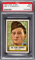 Non-Sport Cards:General, 1952 Topps Look 'N See Gen. C. Chennault #36 PSA Mint 9 - None Higher. ...