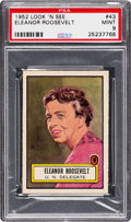 Non-Sport Cards:General, 1952 Topps Look 'N See Eleanor Roosevelt #43 PSA Mint 9 - NoneHigher. ...