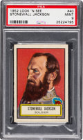 Non-Sport Cards:General, 1952 Topps Look 'N See Stonewall Jackson #40 PSA Mint 9 - Pop Four,None Higher. ...