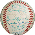 Baseball Collectibles:Balls, 1960's Baseball Greats Multi-Signed Baseball with Roberto Clemente from The Bobby Murcer Collection....
