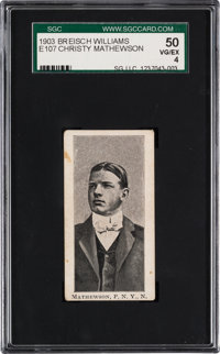 1903 Breisch-Williams E107 Christy Mathewson Rookie SGC 50 VG/EX 4