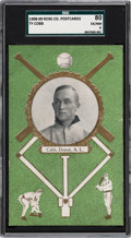 Baseball Cards:Singles (Pre-1930), 1908-09 Rose Company Ty Cobb SGC 80 EX/NM 6....