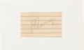 Baseball Collectibles:Others, 1930's Lou Gehrig Signed Cut Signature. ...