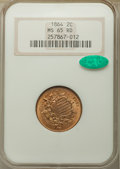 1864 2C Large Motto MS65 Red NGC. CAC....(PCGS# 3578)