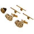 Estate Jewelry:Cufflinks, Gold Nugget, Gold Dress Set. ... (Total: 5 Items)