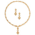 Estate Jewelry:Suites, Gold Jewelry Suite. ... (Total: 2 Items)