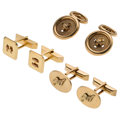 Estate Jewelry:Cufflinks, Gold Cuff Links. ... (Total: 3 Items)