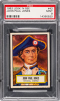Non-Sport Cards:General, 1952 Topps Look 'N See John Paul Jones #42 PSA Mint 9 - Pop Three,None Higher. ...