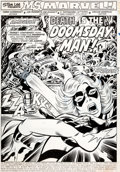 Original Comic Art:Splash Pages, Jim Mooney and Joe Sinnott Ms. Marvel #4 Splash Page 1Original Art (Marvel, 1977)....