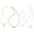 Estate Jewelry:Necklaces, Diamond, Multi-Stone, Gold Necklaces. ... (Total: 4 Items)
