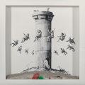 Prints & Multiples, Banksy X The Walled Off Hotel. Walled Off Hotel Box, 2017. Lithograph with concrete. 10 x 10 x 2 inches (25.4 x 25.4 x 5...