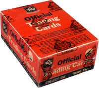 """1956 Topps """"Davy Crockett-Orange"""" Cello Box with 36 Unopened Packs - Fresh to the Hobby Find!"""