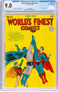 Golden Age (1938-1955):Superhero, World's Finest Comics #21 (DC, 1946) CGC VF/NM 9.0 Off-white to white pages....