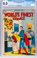 Golden Age (1938-1955):Superhero, World's Finest Comics #40 (DC, 1949) CGC VF 8.0 Cream to off-white pages....