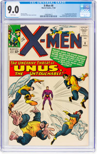 X-Men #8 (Marvel, 1964) CGC VF/NM 9.0 White pages