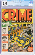 Golden Age (1938-1955):Crime, Crime Does Not Pay #23 (Lev Gleason, 1942) CGC FN 6.0 Off-white pages....