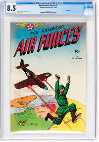 The American Air Forces #1 Carson City Pedigree (Wm. H. Wise & Co., 1944) CGC VF+ 8.5 Off-white to white pages