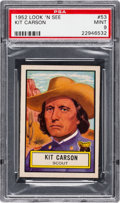 Non-Sport Cards:General, 1952 Topps Look 'N See Kit Carson #53 PSA Mint 9 - None Higher. ...