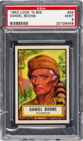 Non-Sport Cards:General, 1952 Topps Look 'N See Daniel Boone #55 PSA Mint 9 - Pop Four, NoneHigher. ...