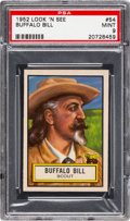 Non-Sport Cards:General, 1952 Topps Look 'N See Buffalo Bill #54 PSA Mint 9 - None Higher....