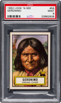 Non-Sport Cards:General, 1952 Topps Look 'N See Geronimo #56 PSA Mint 9 - Pop Four, Only OneHigher. ...