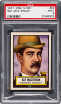 Non-Sport Cards:General, 1952 Topps Look 'N See Bat Masterson #62 PSA Mint 9 - None Higher....
