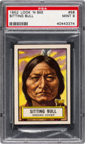Non-Sport Cards:General, 1952 Topps Look 'N See Sitting Bull #58 PSA Mint 9 - None Higher. ...