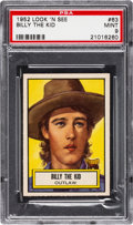 Non-Sport Cards:General, 1952 Topps Look 'N See Billy The Kid #63 PSA Mint 9 - Pop Two, None Higher. ...