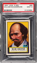 Non-Sport Cards:General, 1952 Topps Look 'N See William Shakespeare #66 PSA Mint 9 - NoneHigher. ...