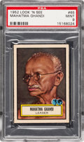 Non-Sport Cards:General, 1952 Topps Look 'N See Mahatma Ghandi #65 PSA Mint 9 - None Higher. ...